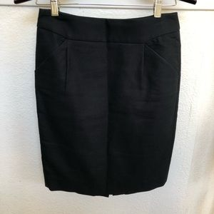 J.Crew The Pencil Skirt Black Size 2